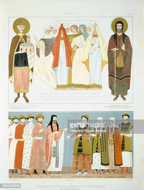 Color Lithograph Depicting Royals of Georgia by Rauhneim