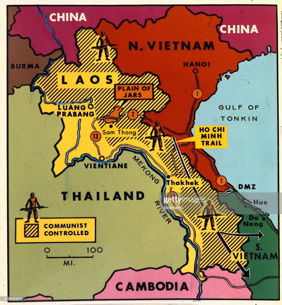 map of communist controlled laos pictures getty images