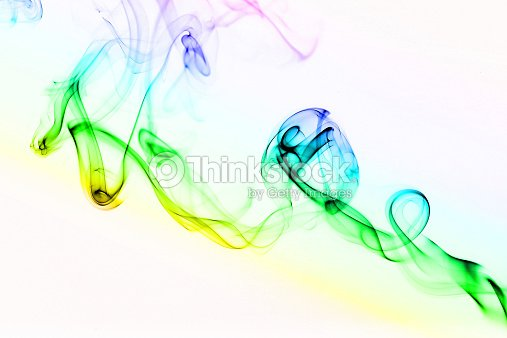 Color Of Smoke In The White Background Stock Photo