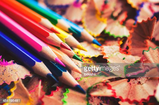 Color pencils close-up : Stock Photo