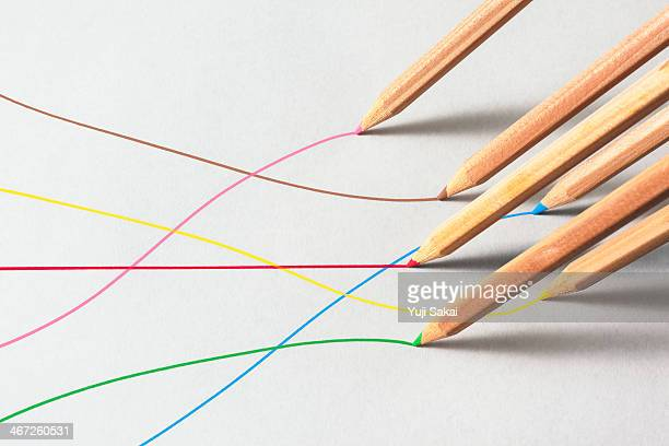 Color pencils line on paper