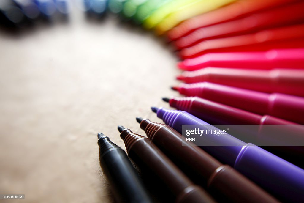 Color Pens Displayed in Artistic Way