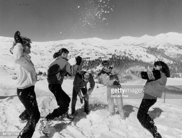 Color Photo Lots Of Snow On Top Of Loveland Pass L to R Lori Schmit Keystone Ski InstructorEllyn Peddicord Of Breckenridge Gordon Bakouli New York...