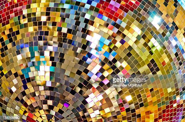 Color pixels from massive Christmas disco ball