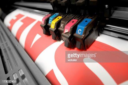 Color Printer Printing Up A Sale