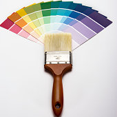 Color Sample and Paintbrush