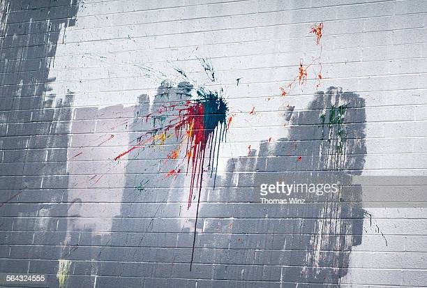 Color splash on a wall