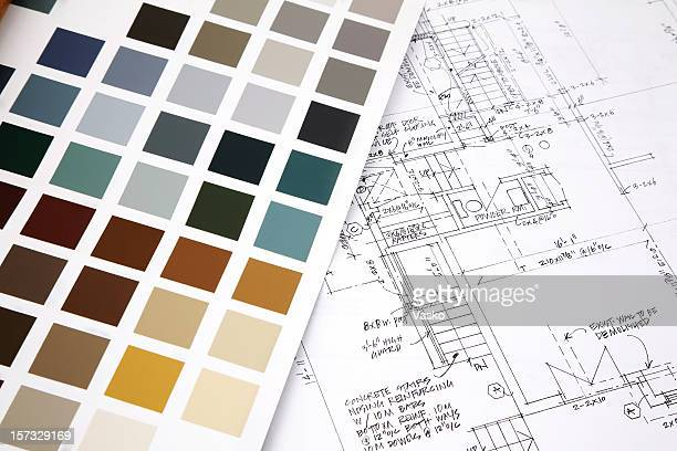 Color swatch and building plans