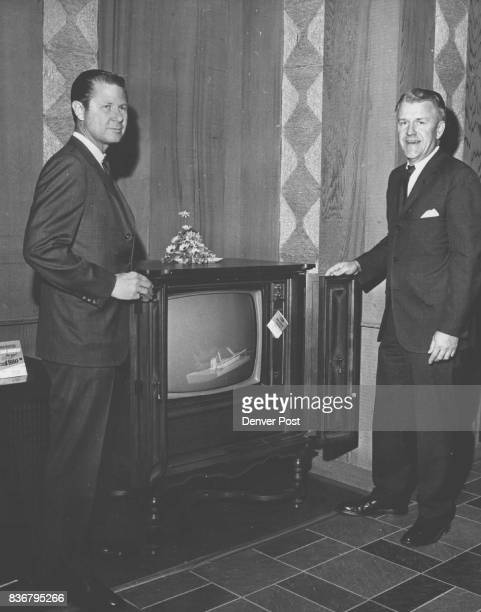 JUN 26 1967 '68 RCA Color Television Don Conrad sales manager and Wayne Kuykendall vice president are shown with the new RCA topofline color...