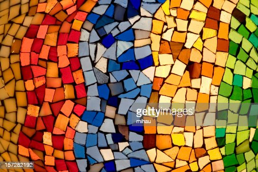 Color tiles mosaic