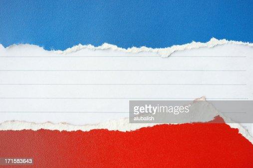 カラー torn 紙