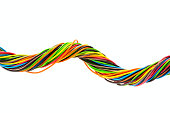 Color wires on white backgroundColor wires on white background