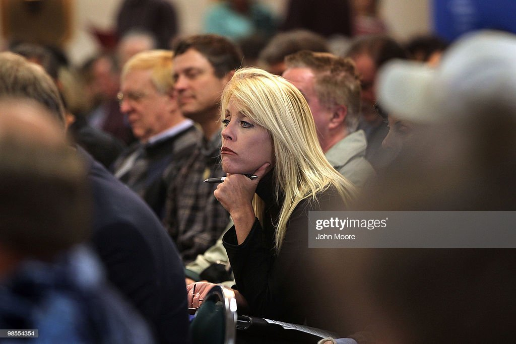 Coloradans listen during the opening session of the 'Job Hunters Boot Camp' on April 19, 2010 in Aurora, Colorado. Hundreds of unemployed residents turned out for the seminar and job fair sponsored by U.S. Rep. Ed Perlmutter (D-CO). Sessions at the conference included tips to landing a federal job, improving interview skills, writing resumes and using social networking to find employment. Local colleges advertised courses for first responder training and companies took employment applications.