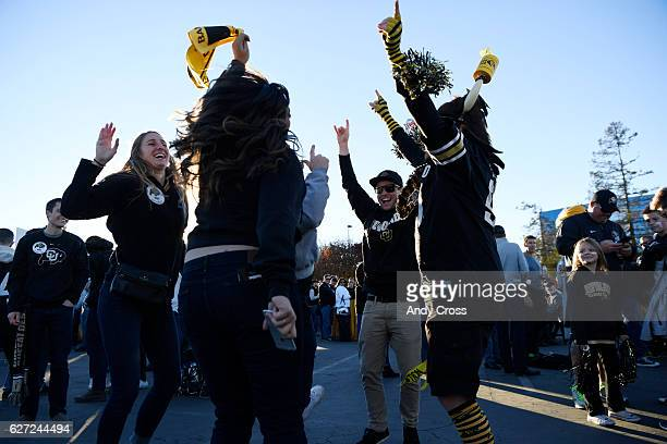 Colorado Buffaloes fans tailgate before the Pac12 Championship game against the Washington Huskies at Levi's Stadium December 02 2016