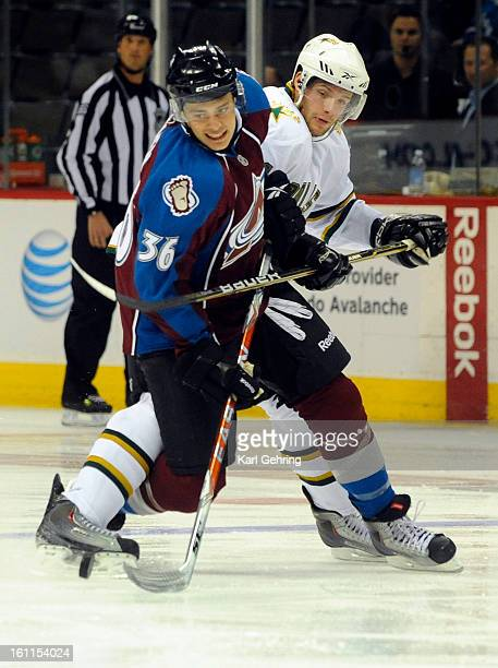 Colorado defenseman Colby Cohen went for puck with Dallas center Tomas Vincour right behind him The Colorado Avalanche hosted the Dallas Stars in a...