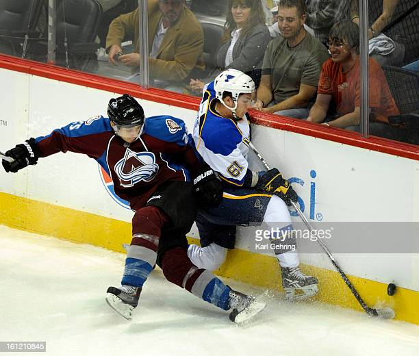 Colorado defenseman Duncan Siemens pinned Blues winger Ty Rattie against the board in the first period The Colorado Avalanche hosted the St Louis...