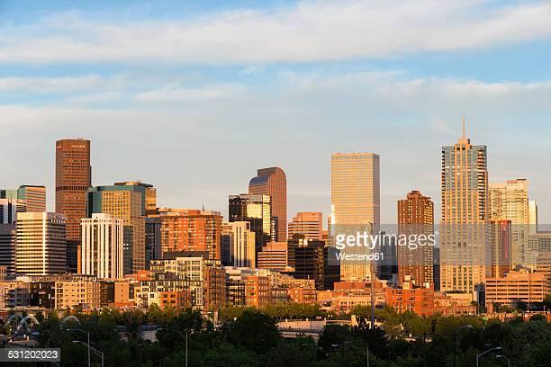USA, Colorado, Denver, Cityscape in the evening light