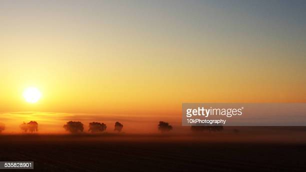 USA, Colorado, Foggy sunrise