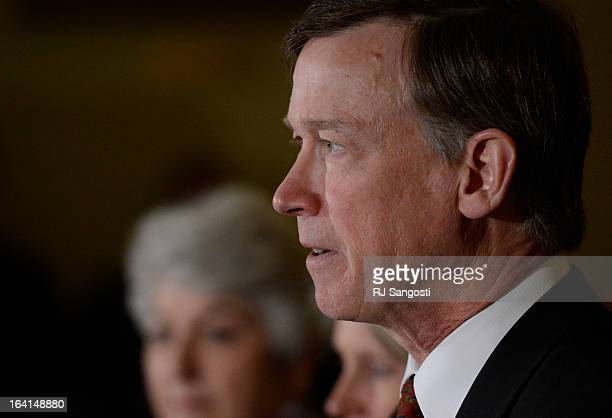 Colorado Governor John Hickenlooper reflects on the death of Tom Clements the executive director of the Colorado Department of Corrections during a...