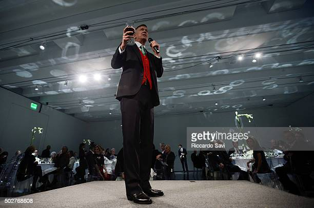 Colorado Governor John Hickenlooper speaks during THE NOW 2015 at Aspen Art Museum on December 28 2015 in Aspen Colorado