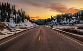Colorado Mountain Highway 550. Million Dollars Highway. United States of America. Scenic Colorado Mountain Pass
