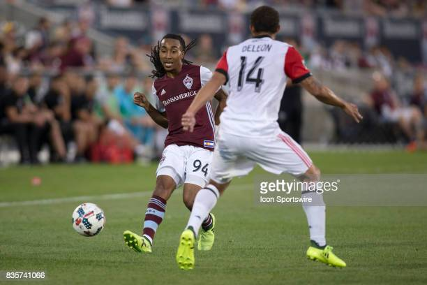 Colorado Rapids defender Marlon Hairston passes the ball during the Colorado Rapids game vs the DC United on August 19 2017 at Dick's Sporting Goods...