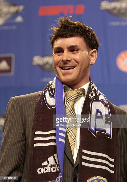 Colorado Rapids draft pick Nico Colaluca at the 2007 SuperDraft at the Indianapolis Convention Center in Indianapolis Indiana on January 12 2007