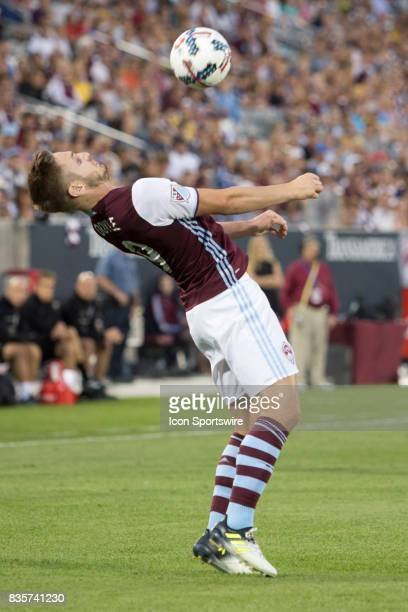 Colorado Rapids forward Kevin Doyle controls the ball during the Colorado Rapids game vs the DC United on August 19 2017 at Dick's Sporting Goods...