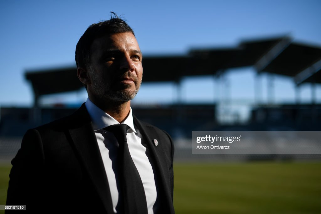 Colorado Rapids new head coach Anthony Hudson poses for a portrait on Thursday, November 30, 2017. Hudson formerly coached the New Zealand national team.