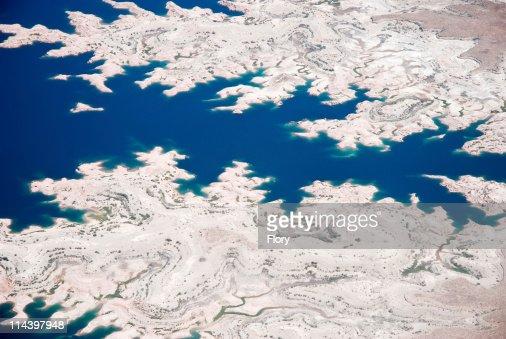 Colorado River aerial view