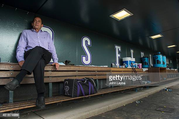 Colorado Rockies owner Dick Monfort speaking on the state of the club during a one on one interview before the Colorado Rockies San Diego Padres game...