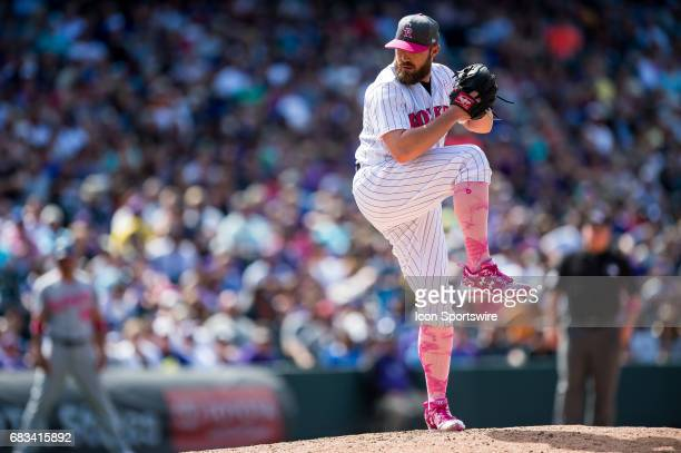 Colorado Rockies relief pitcher Mike Dunn pitches against the Los Angeles Dodgers during a regular season Major League Baseball game on May 14 2017...