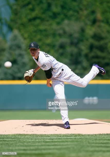 Colorado Rockies Starting Pitcher Kyle Freeland pitches during a regular season MLB game between the Colorado Rockies and the visiting Milwaukee...