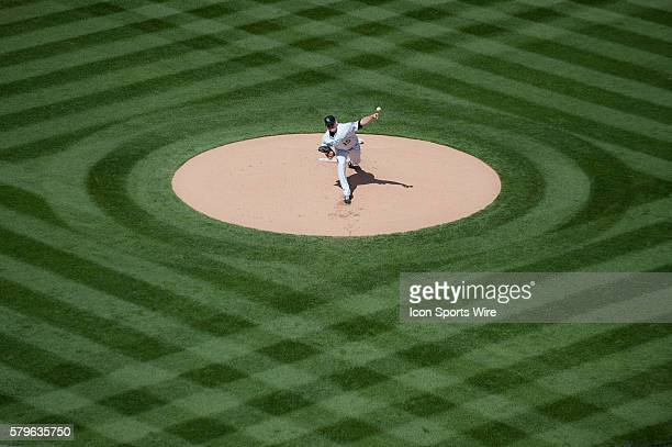 Colorado Rockies starting pitcher Tyler Matzek pitches in the first inning during a regular season Major League Baseball game between the Chicago...
