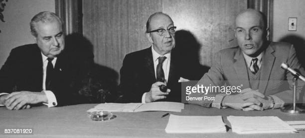 Colorado Savings Bond Campaign Leaders Outline Plans for 1970 Drive From left are Gordon M Metcalf Sears Roebuck Co board chairman and national bond...
