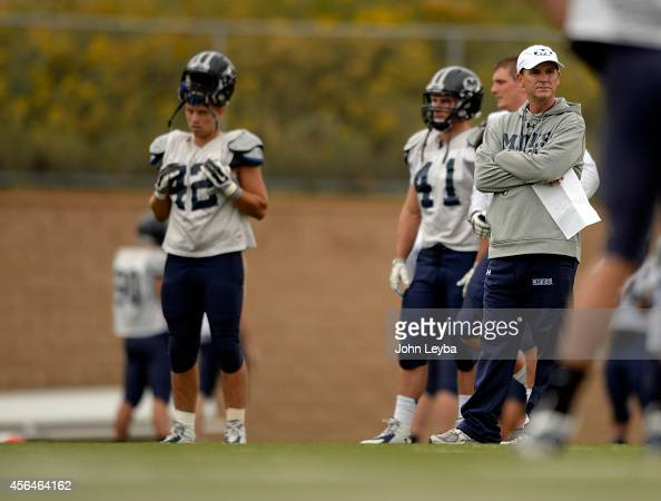 Colorado School of Mines head coach Bob Stitt looks on during practice September 30 2014 The Colorado School of Mines football team and its success...