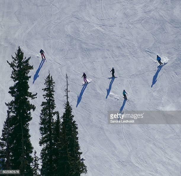 Colorado Skiers and their Shadows