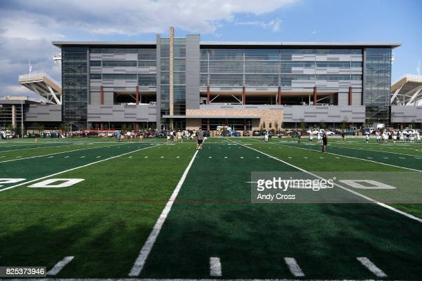 Colorado State University Rams new practice fields across from the new stadium August 1 2017