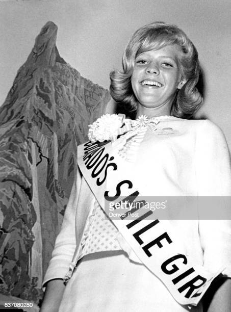 Colorado's Smile Girl Miss Tia Tyler of 14405 Crabapple Rd Golden Saturday was crowned Smile Girl of Colorado for 1965 She will go to Hawaii in July...