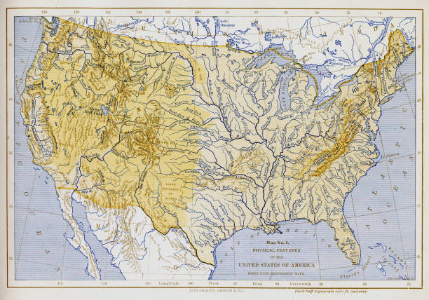 Map No Physical Features Of The United States Of America - Physical features of the united states map