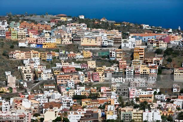 Colored buildings on the hillside by the sea San Sebasti‡n de La Gomera La Gomera Canaries Spain