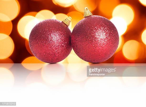 colored christmas ball and boke light