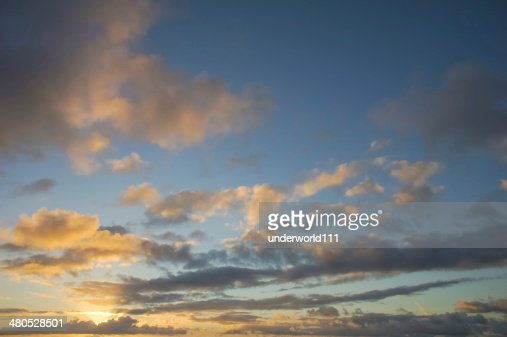 Colored Clouds at Sunset : Stock Photo