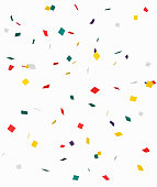 small pieces of colored paper that are thrown around on festive occasions