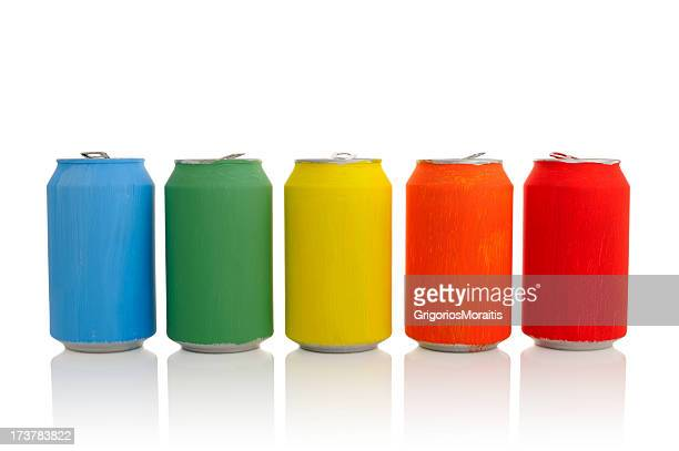 Colored Drink Cans