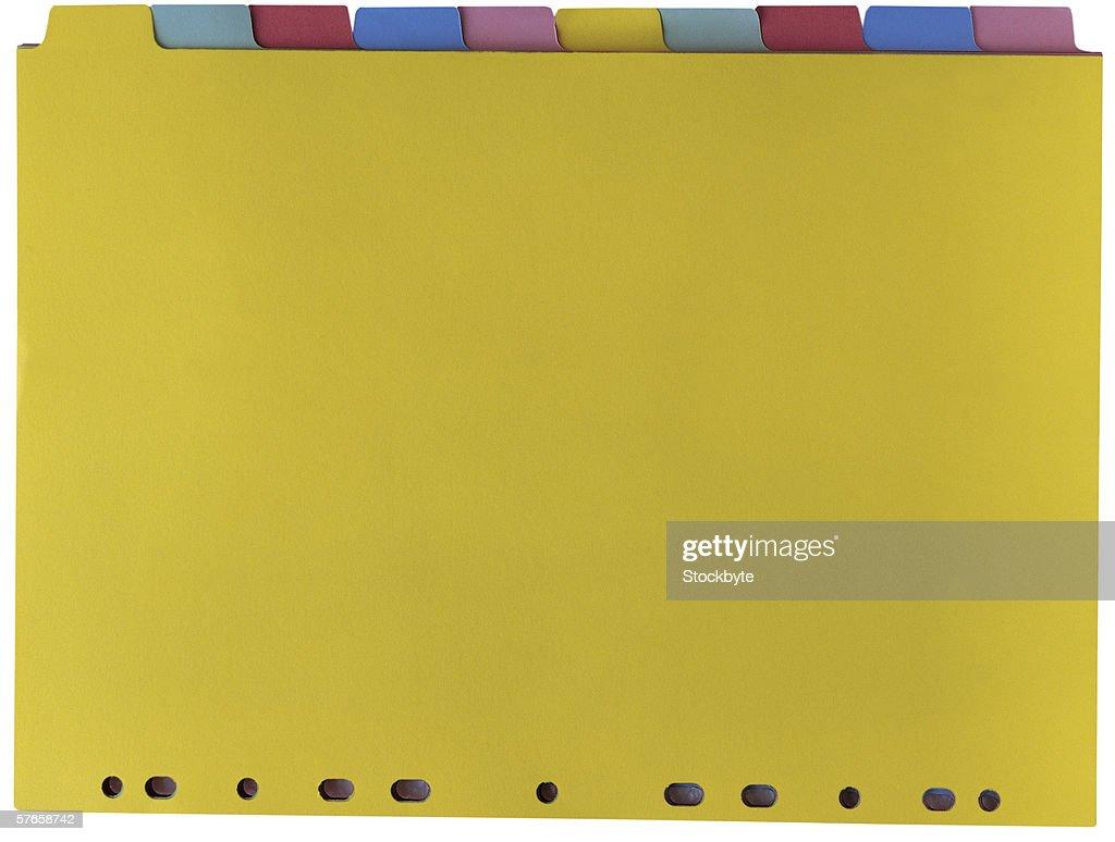 colored file separators : Foto stock