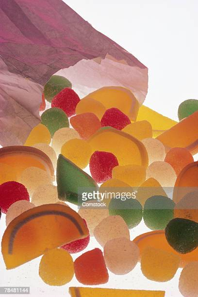 Colored fruit candies