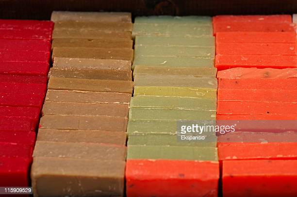 Colored Hand-Made Soap Bars