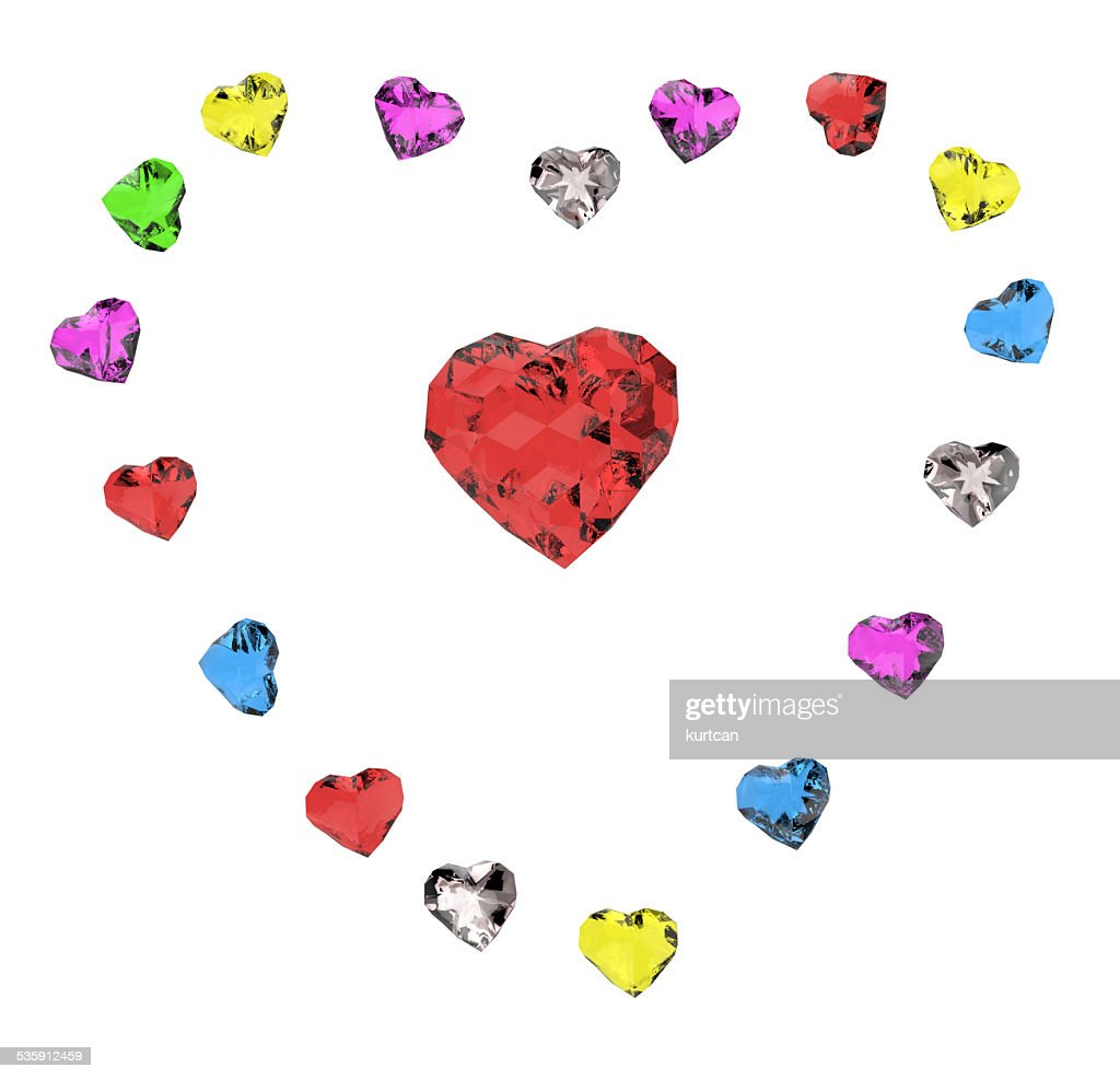 Corazones de color : Foto de stock