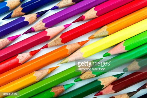 Colored pencil tips : Stock Photo